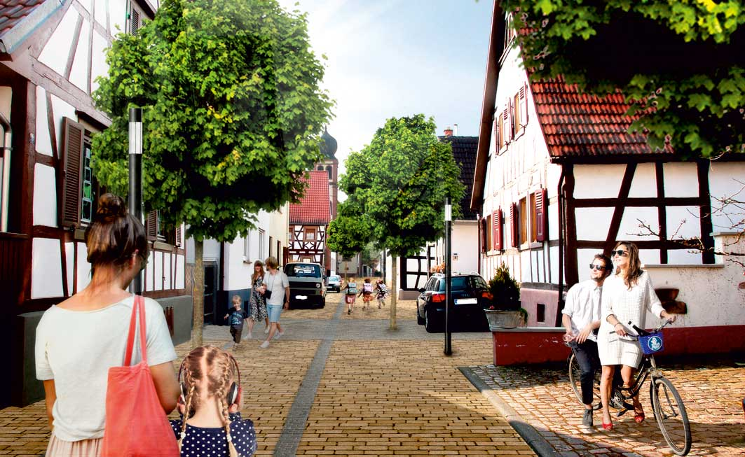 nachher Visualisierung Strassenumgestaltung Maximilianstrasse Hagenbach
